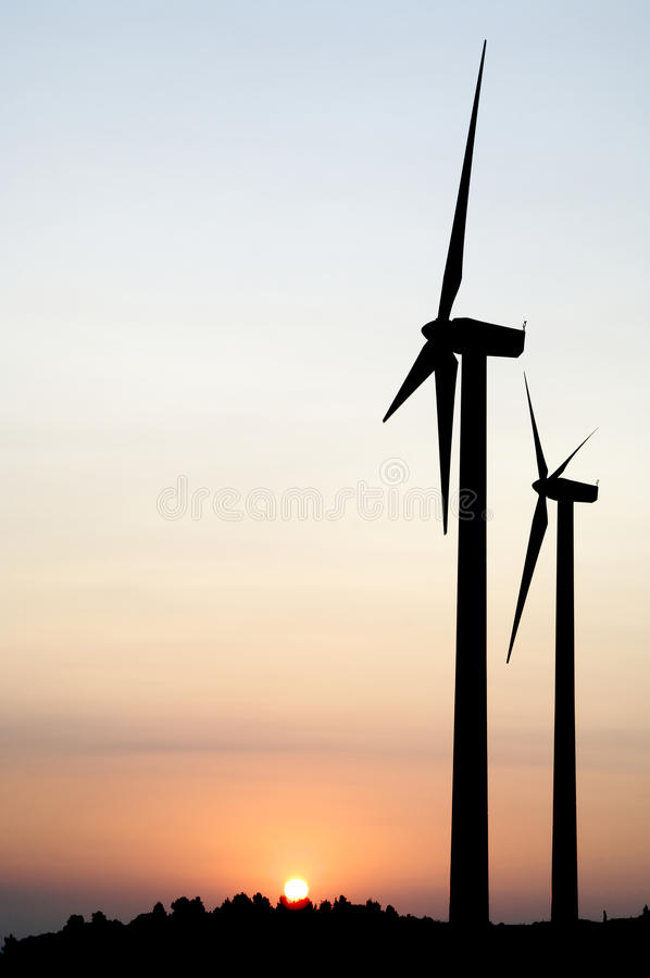 Free Two Windmills Royalty Free Stock Images - 10920839