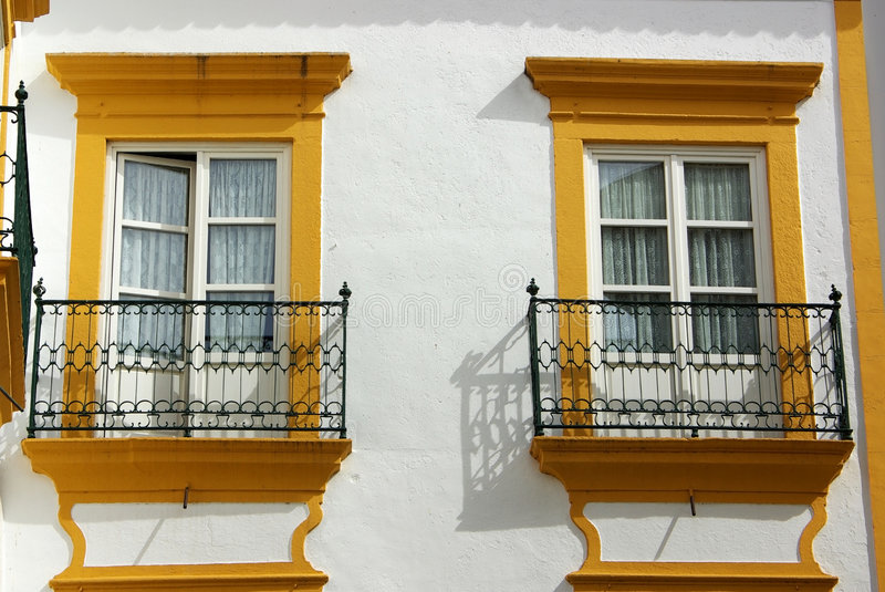 Two windows stock images