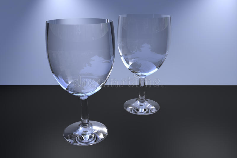 Two Wine Glass Royalty Free Stock Photos