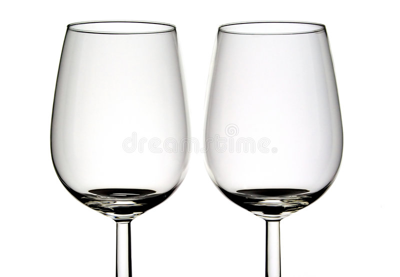 Two wine glasses. Standing near each other royalty free stock images