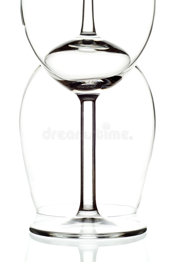 Two Wine Glasses royalty free stock photo