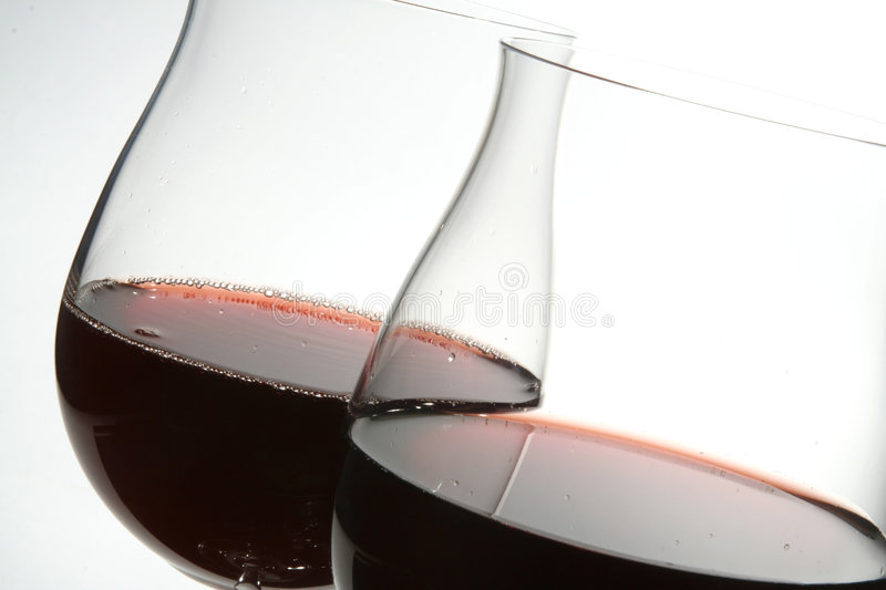 Download Two Wine Glasses With Red Wine Stock Photo - Image: 2222654
