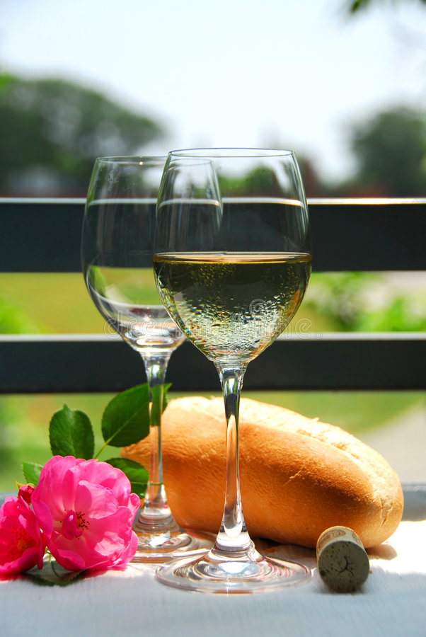 Two wine glasses with wine royalty free stock image
