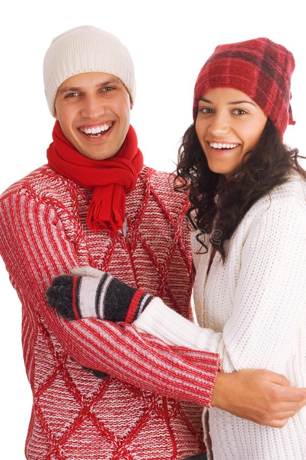 Two winter friends royalty free stock photo