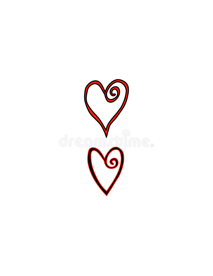 Download Two Wire Hearts stock illustration. Illustration of healthcare - 516091
