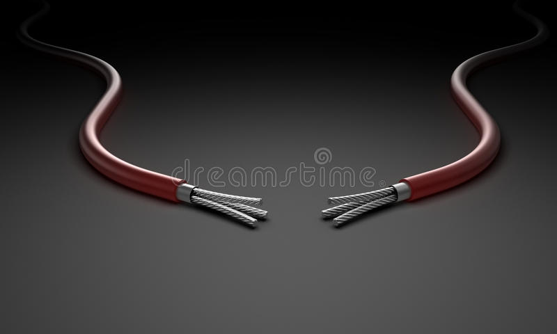 Download Two wires stock illustration. Image of mains, copper - 25420925