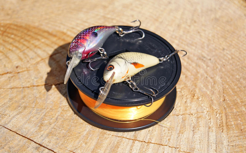 Two wobblers and fishing line