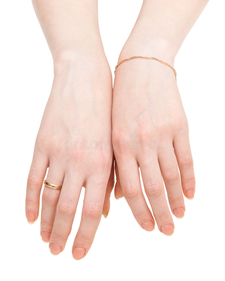 Download Two Woman Hands Backside View Stock Image - Image: 3713533