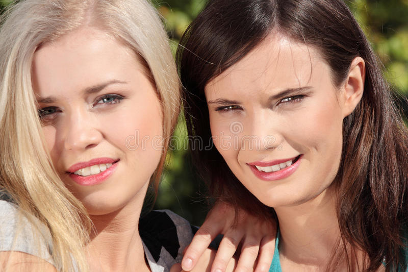 Download Two woman at park stock image. Image of outside, girl - 16211823