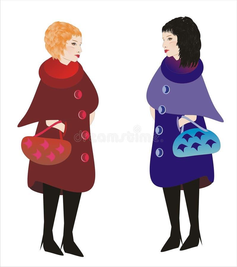 Download Two women stock illustration. Image of intercourse, communion - 16355026