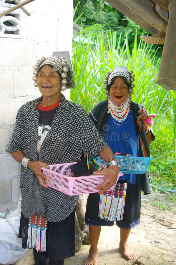 Two Women From The Akha Tribe Editorial Image
