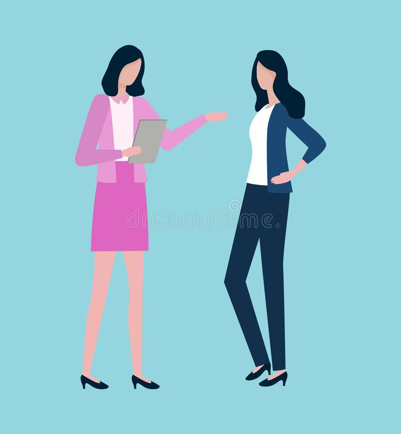 Free Two Women Discussing Business Issues Isolated Stock Image - 163408581