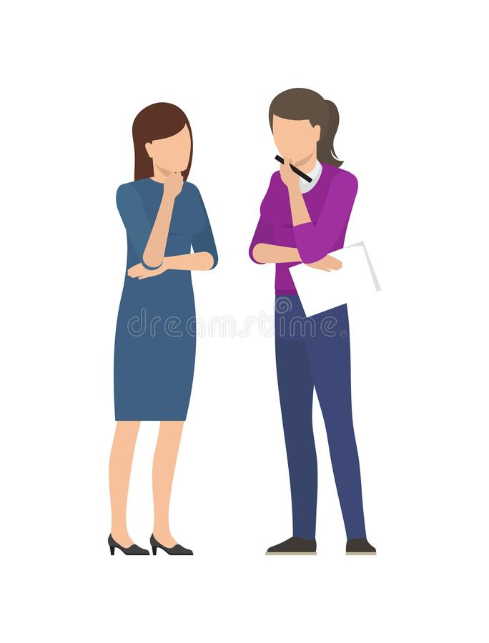 Free Two Women Discussing Business Plan Business Ladies Royalty Free Stock Photography - 118254227