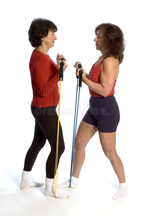 Download Two Women Exercising Royalty Free Stock Images - Image: 1630619