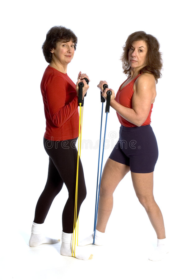 Download Two women exercising stock photo. Image of black, conditioning - 1630620