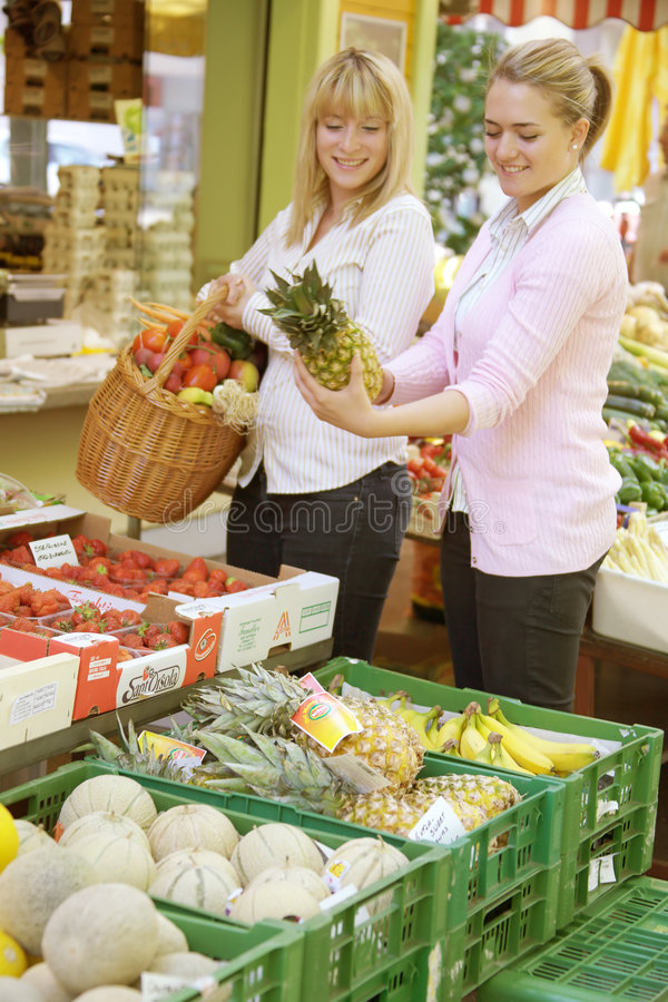 Download Two Women On The Fruit Market Stock Photo - Image: 5274576