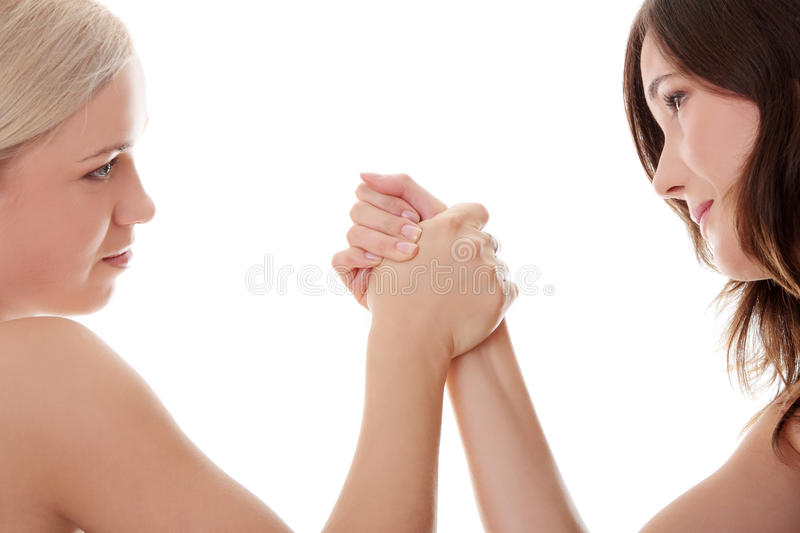 Two Women Hands Fight Royalty Free Stock Photos