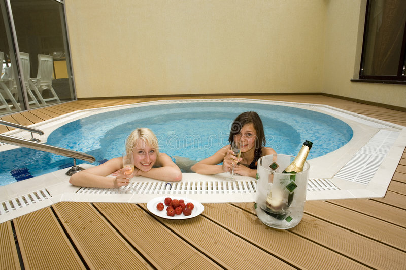 Download Two women in hot tub stock photo. Image of activity, girl - 3013630