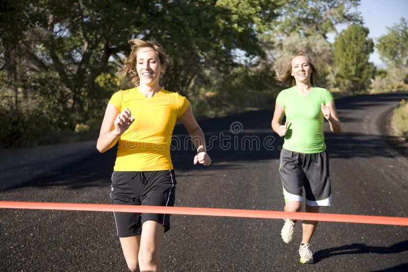 Download Two women running stock image. Image of exercise, competition - 11107233