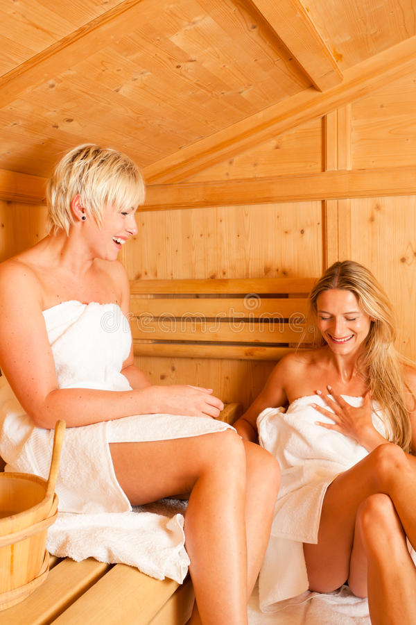 Download Two women in sauna stock image. Image of sweat, girls - 15874873