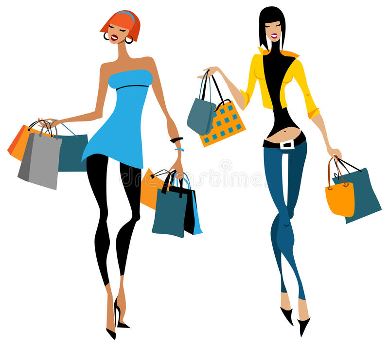 Download Two Women With Shopping Bags Royalty Free Stock Photos - Image: 23409868