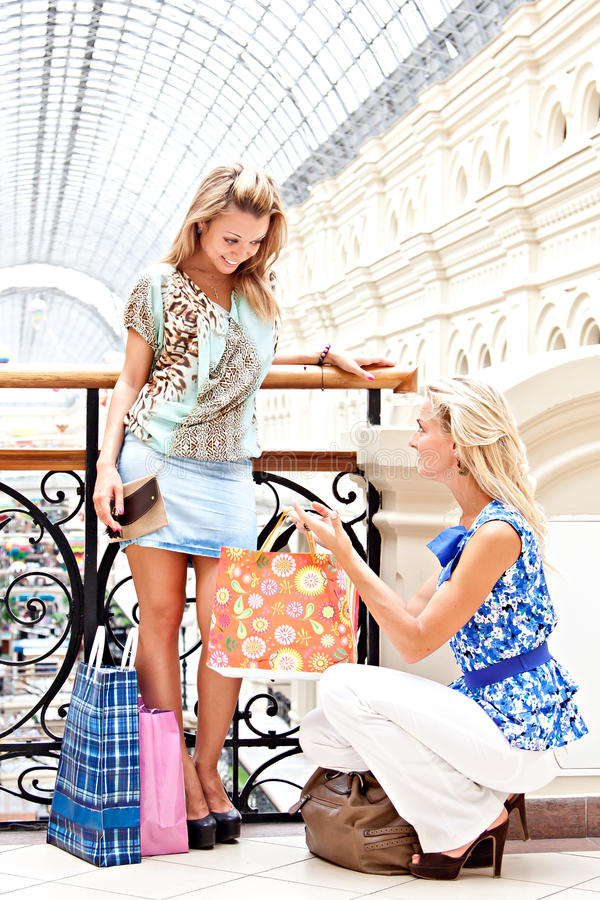 Download Two Women In A Shopping Center Stock Photo - Image: 27633826