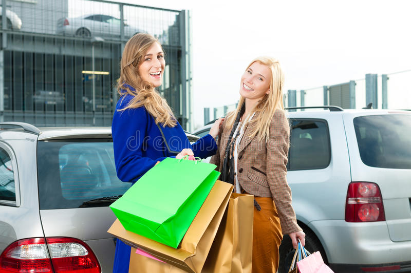 Download Two Women Were Shopping And Driving Home Stock Photo - Image: 24558648