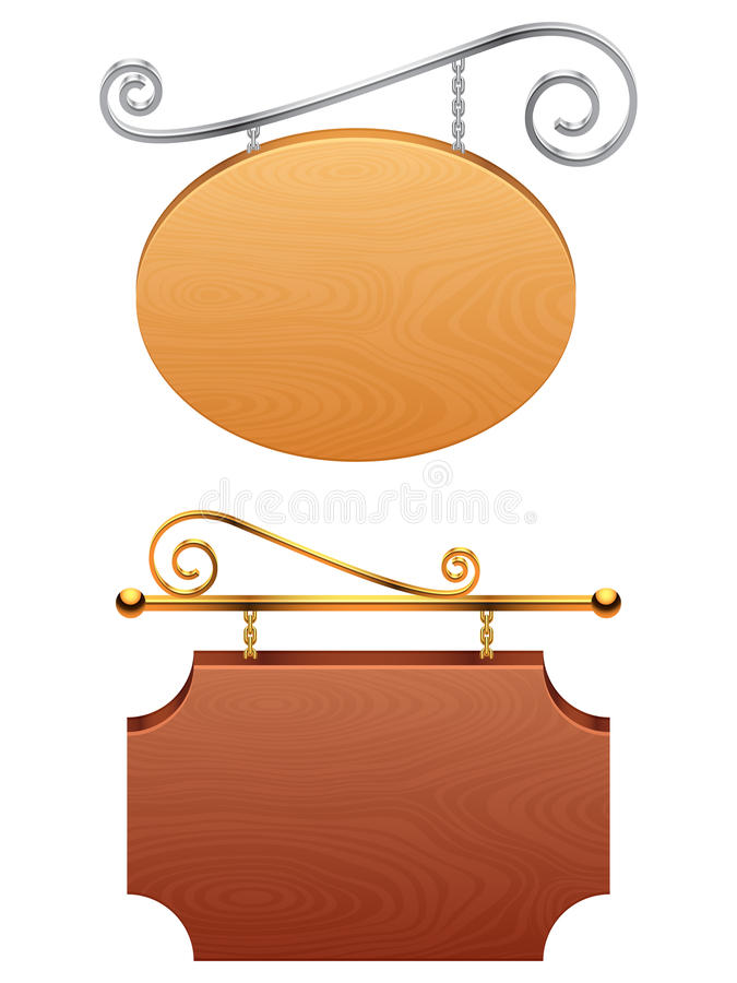 Download Signboards. stock vector. Image of frame, brown, concept - 30060855