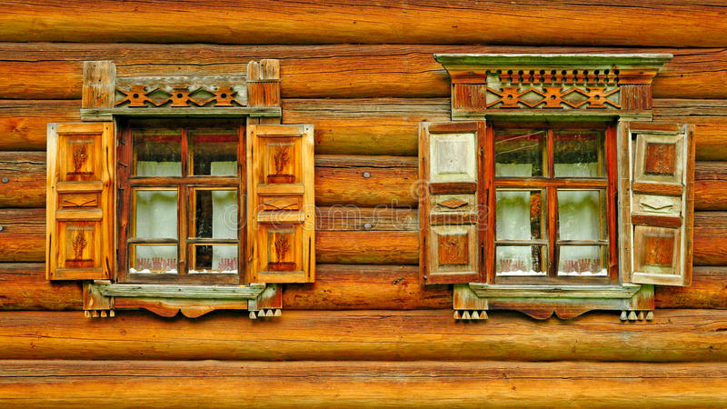 Download Two wooden windows stock photo. Image of oblast, bollard - 37725380