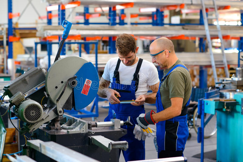 Download Two Worker In Factory Stock Photo - Image: 83708970