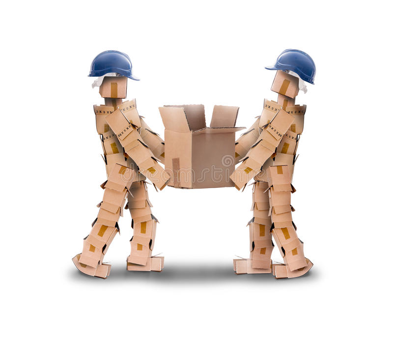 Download Two workmen lifting a box stock photo. Image of mate - 45488060