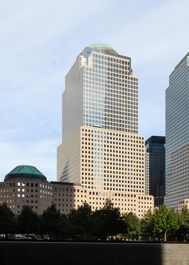 Two World Financial Center. In Manhattan, New York City royalty free stock photo