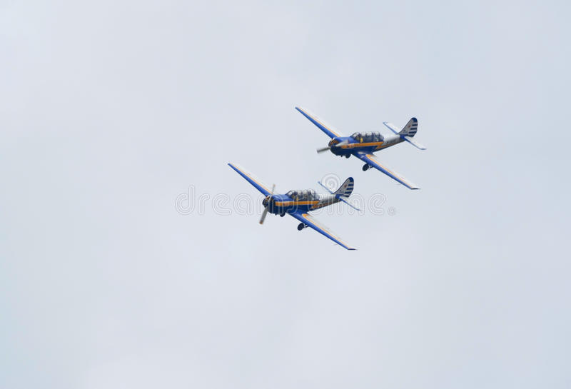 Download Two Yak-52 Planes Fly In Formation Editorial Stock Photo - Image: 20431308
