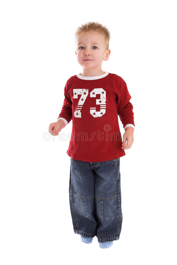 Two year old boy royalty free stock photography