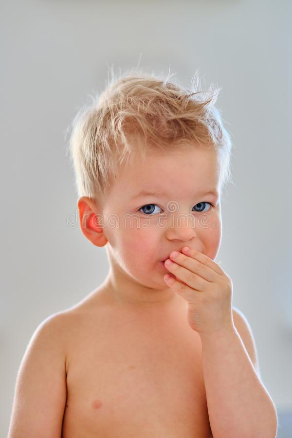 Two year old boy stock photography