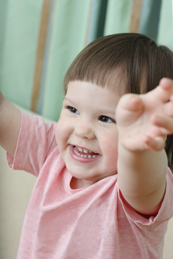 Two-year-old girl royalty free stock image
