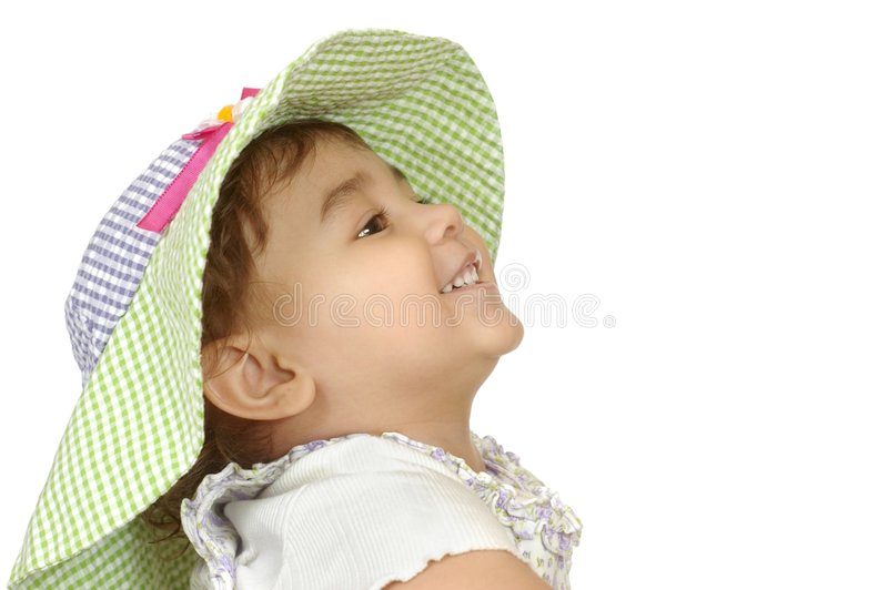 Cute Girl In Floppy Hat Royalty Free Stock Photography