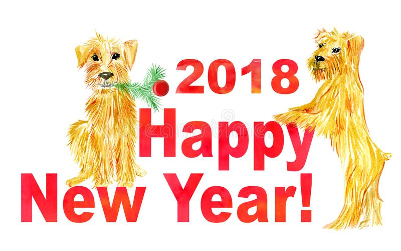 Dog As Symbol Chinese New Year 2018 Stock Vector