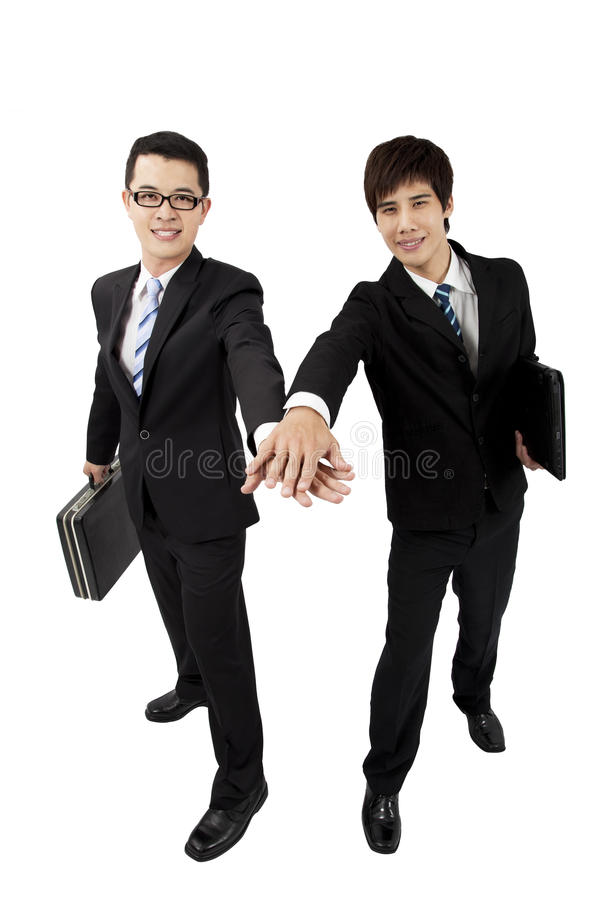 Two young asian businessman royalty free stock image