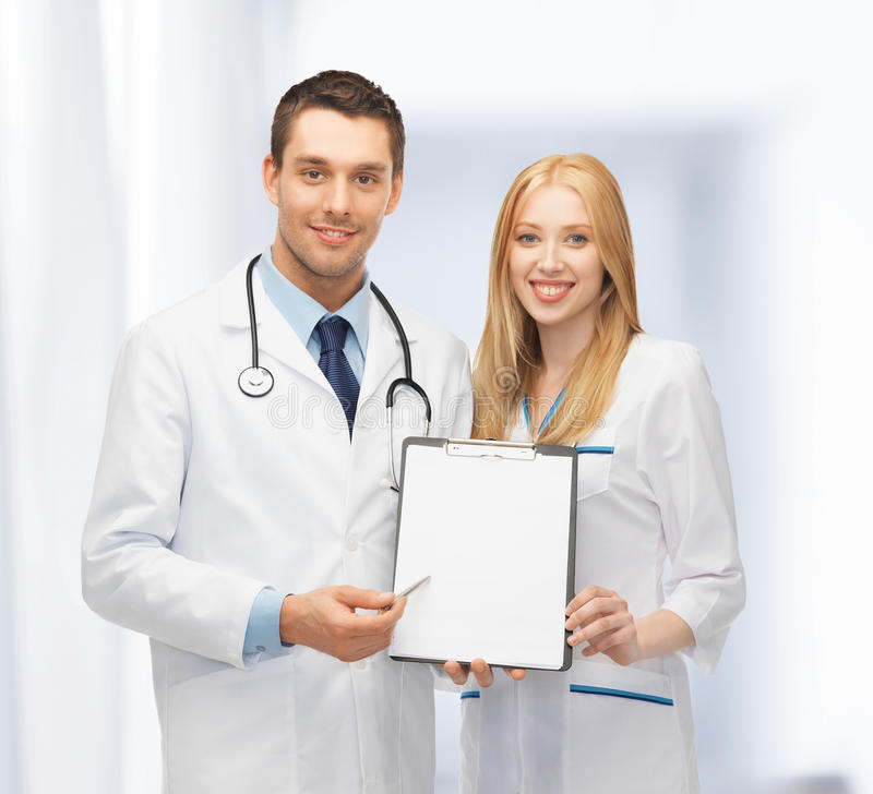 Download Two Young Attractive Doctors Stock Image - Image of intern, docs: 38071321