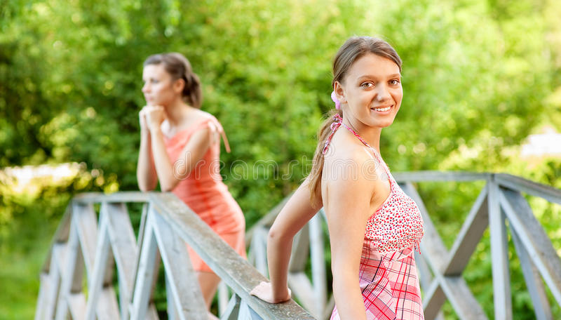 Download Two Young And Beautiful Girls At Banisters Stock Image - Image: 13201071