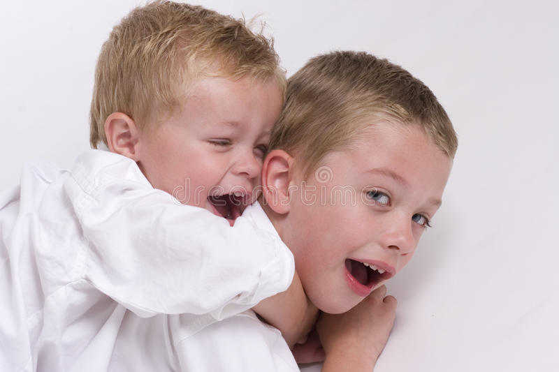 Download Two Young Boys stock photo. Image of shirt, white, human - 12358986