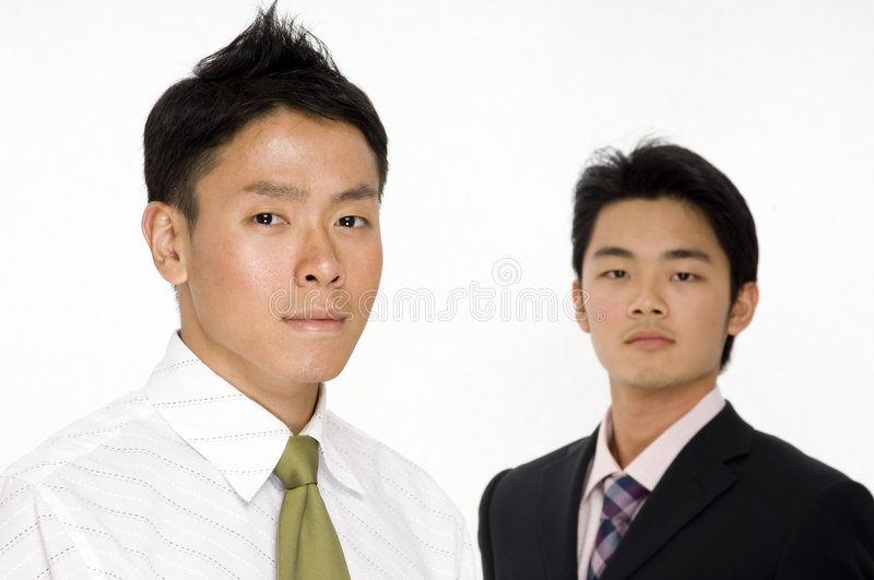 Download Two Young Businessmen stock photo. Image of shirt, chinese - 863644