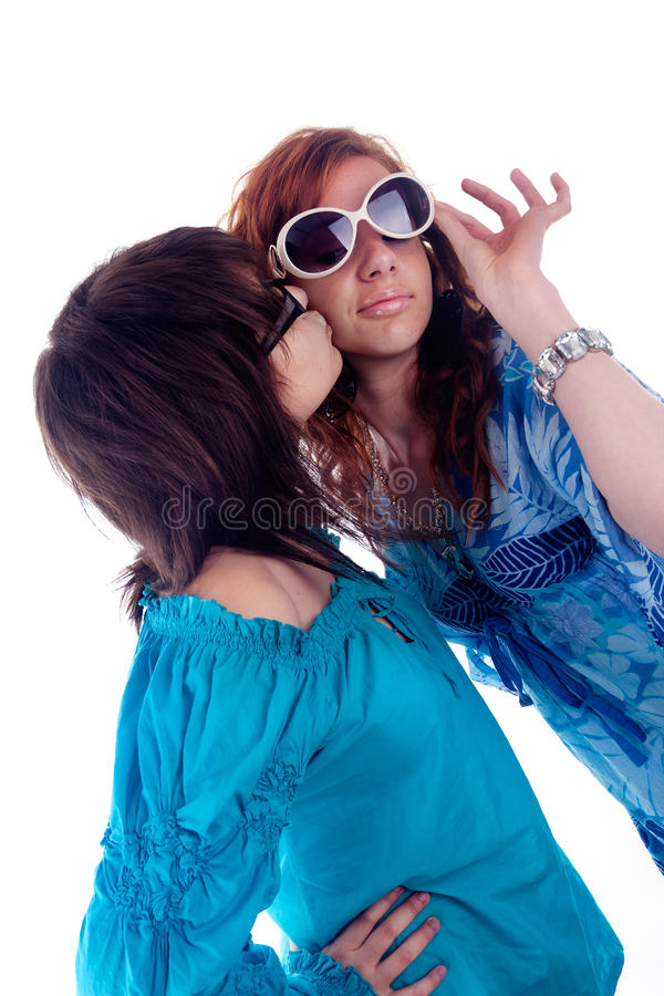 Two Young Girlfriends Royalty Free Stock Photography