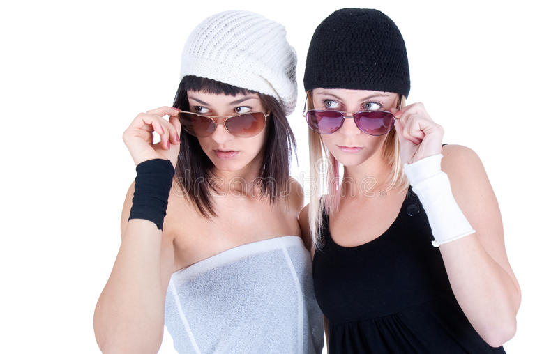 Download Two Young Pretty Women Looking Somewhere Fare Away Stock Photo - Image: 11751098