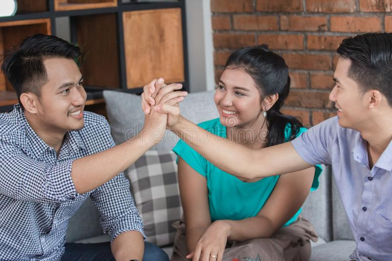 Friend colleagues concept stock photo