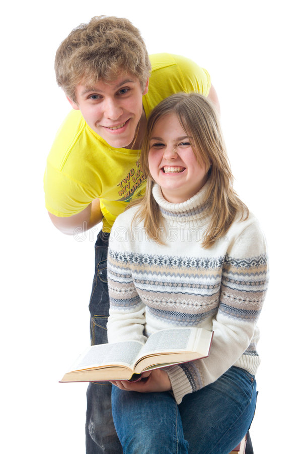 Download The two young students stock photo. Image of backgrounds - 7241446