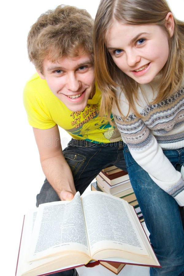 The Two Young Students Royalty Free Stock Photos