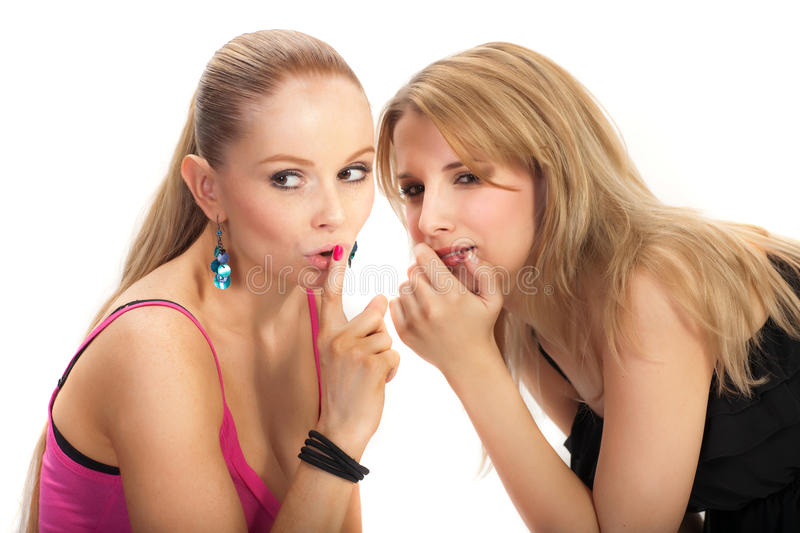 Download Two Young Woman Sharing Secret Stock Photo - Image of beautiful, adult: 15584206