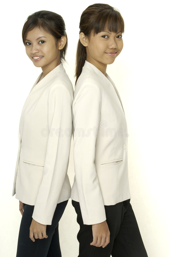 Download Two Young Women stock photo. Image of asian, business, matching - 114502